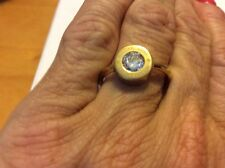 $75 Michael Kors Crystal Logo Ring Size 7 Gold Tone #500