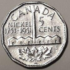 1751-1951 CANADA  Commemorative 5 Cent Nickel Coin KING GEORGE VI