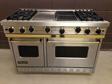 "Viking 48"" Range VGIC48646GQSSBR Gas 4 Burners Professional + Griddle + Grill"