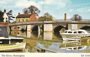 Huntingdon. The River. KIngsley postcard in VGC. Unwritten/Unposted