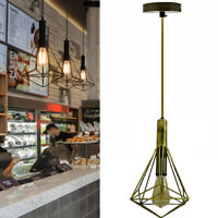 Vintage Industrial Metal Cage Ceiling Pendant Light Lamp Shade Free Bulb
