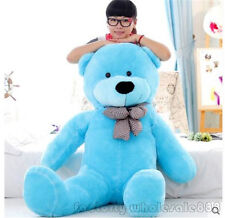 55inch Giant hung big TEDDY BEAR blue PLUSH SOFT STUFFED Gift free EMS shipping