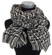 écharpe pour femmes gris noir blanc par Ella Jonte écharpe automne hiver