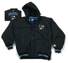 VTG Starter San Jose Sharks Full-Zip Hooded Jacket (Sleeve Flaw) 90s Men's L
