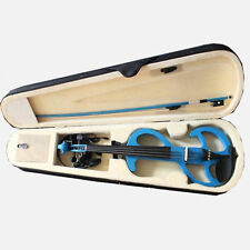 4/4 Electric Violin Full Size Silent Violin Bow +Case Blue FREE SHIPPING TO AU