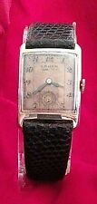 Father's Day VINTAGE'40s GRUEN VeryThin Precision17J MENS WATCH 10KGF w/sub Dial