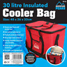 Large Portable Cool Bag RED BLUE 26L 30L Insulated Thermal Cooler Food Drink