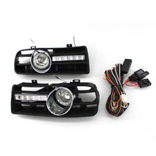 For VW Golf MK4 1998-2004 2Pcs H3 55W Fog Lights Grilles + 10 LEDs DRL Lamp ABS