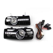 For VW Golf MK4 1998-2004 2Pcs H3 55W Fog Lights Grilles + 10 LEDs DRL Lamp ABS