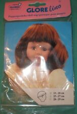 "doll wig blond 7,5"" to 8"" Glorex/Switzerland"