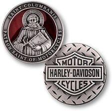 Harley Davidson / Saint Columbanis ~1.75oz .999 Silver Challenge Coin