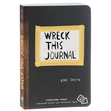 Wreck This Journal by Keri Smith on Russian Black Paperback Book NEW From Russia
