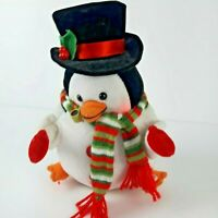 Gemmy Singing Dancing Christmas Plush Snowman Sings Jolly Old St Nick Lights Up