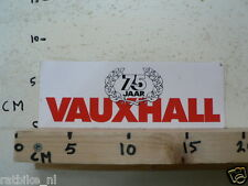 STICKER,DECAL VAUXHALL 75 JAAR CAR AUTO NOT 100 % OK