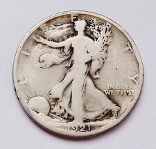 KEY DATE!! 1921-D U.S. WALKING LIBERTY SILVER HALF DOLLAR ~ GOOD - EDGE BUMPS