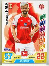 Match Attax 2017/18 Bundesliga - #219 Alexander Hack - 1. FSV Mainz 05
