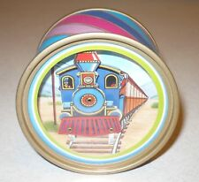 Vintage Zip-A-Dee-Doo-Dah Dancing Train Round Music Box Collectible Decor