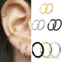 3 Pairs Women Girl Simple Round Circle Small Ear Stud Earring Punk Earrings Gift
