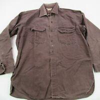 Vintage Cabela's Long Sleeve Button Shirt Size Adult XL Brown Worn Button Up