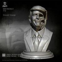 Donald Trump Bust Resin Model Kits GK Unpainted Unassembled YUFAN 1/12 55mm