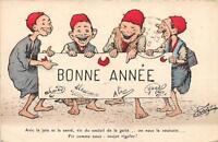 CPA ILLUSTRATEUR CHAGNY BONNE ANNEE  AVIC LA JOIE ET LA SANTE
