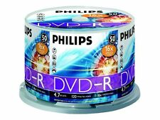 50 Philips Dvd-r Rohlinge 4.7gb 16x In Spindel