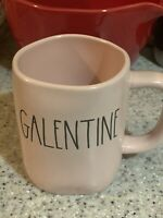 "Rae Dunn Valentines Day ""GALENTINE"" Pink W/ Black Letters Mug VHTF"