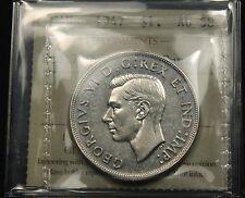 1947 Ptd Pointed 7 4x HP Quadruple Punch - Canada Silver Dollar ICCS AU58