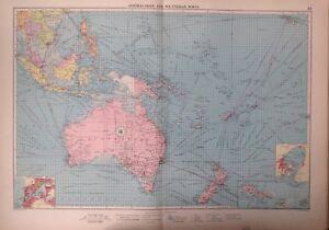 Australasian And Polynesian Ports,1952, Mercantile Marine Atlas, Philip