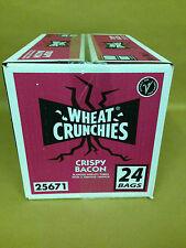 Wheat Crunchies Crispy Bacon Crisps 30g x 24 * FULL BOX * BULK BUY *