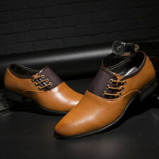 Comfortable Men Pointed Toe Business Dress Formal Office Leather Shoes Plus Size
