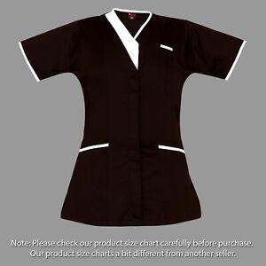 Piping Medical vest Nurse Tunic Healthcare Therapist Dental Salon care Uniform