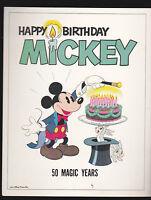 Happy Birthday Mickey Mouse -50 Magic Years- single sided card Walt Disney