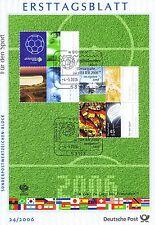 BRD 2006: Fußball-WM-Block Nr. 67! Ersttagsblatt mit Bonner Sonderstempeln! 1A!