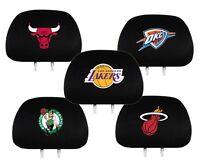NBA Auto Head Rest Covers {Pair} Car Seat Headrest - Pick Team