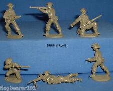 Weston-WW2 British D-DAY Infantry X 12 figurines échelle 1/32 VERT KAKI PLASTIQUE
