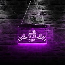 Tailor Shop Acrylic Led Neon Sign Board Night Lamp Display Sign Gift