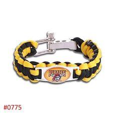 Pittsburgh Pirates Baseball Paracord Bracelet No Drop Ship Fast Ship USA Seller