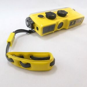 Yellow Minolta Weathermatic A  Camera 110 Format Waterproof Underwater  W Strap