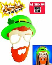 Sun-Stache St Patricks Day Leprechaun Mask Mens Womens ASO Shark Tank