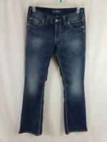 Silver Jeans Suki Surplus Womens Blue Denim Size 29 x 32 Boot Cut Medium Wash