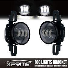 Xprite LED Fog Light W/ Mounting Bracket Fits Jeep Wrangler Hard Rock Rubicon X