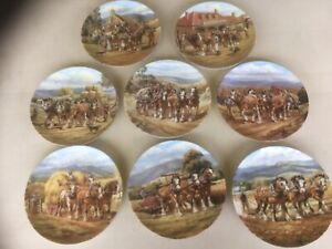 8 PLATES OUR MIGHTY CLYDESDALES BY JOHN CORNWELL