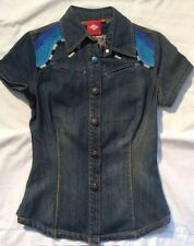 NWOT OILILY Denim Summer Festival Shirt Jacket/Summer Festival Sz 32