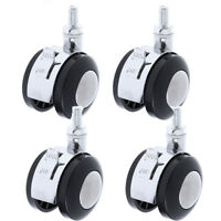 4Pcs Swivel Plate Replacement Wheel Casters 2 inch to 8/10mm Screw Diameter