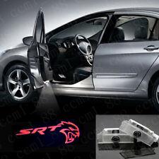 New 2x Red SRT Hellcat Logo LED Door Laser Projector Lights For Dodge Challenger