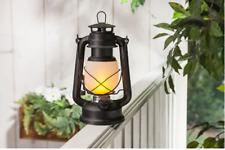 "FireGlow Led Hurricane Lantern With Dimmer 9.5 "" - Matte Black By Gerson"