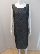 MAGGIE T  SILVER,BLACK OCCASIONS DRESS SIZE 12- NEAR NEW (#J588)