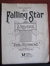 Falling Star - a Reverie by Ben Richmond - 1903 sheet music - Unexcelled Edition
