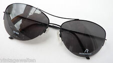 Rodenstock Sunglasses Lightweight Black Teilrand Metal High-Quality UV400 Size M